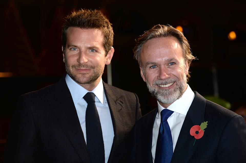 Bradley Cooper (left) and Marcus Wareing arriving for the Burnt premiere at Vue West End, Leicester Square, London. PRESS ASSOCIATION Photo. Picture date: Wednesday October 28, 2015. Photo credit should read: Anthony Devlin/PA Wire