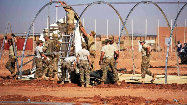 PHOTO: Airmen from the 724th Expeditionary Air Base Squadron take down tents from the old base to move to a new location, Sept. 11, 2017, at Air Base 201, in Agadez, Niger. (U.S. Air Force)