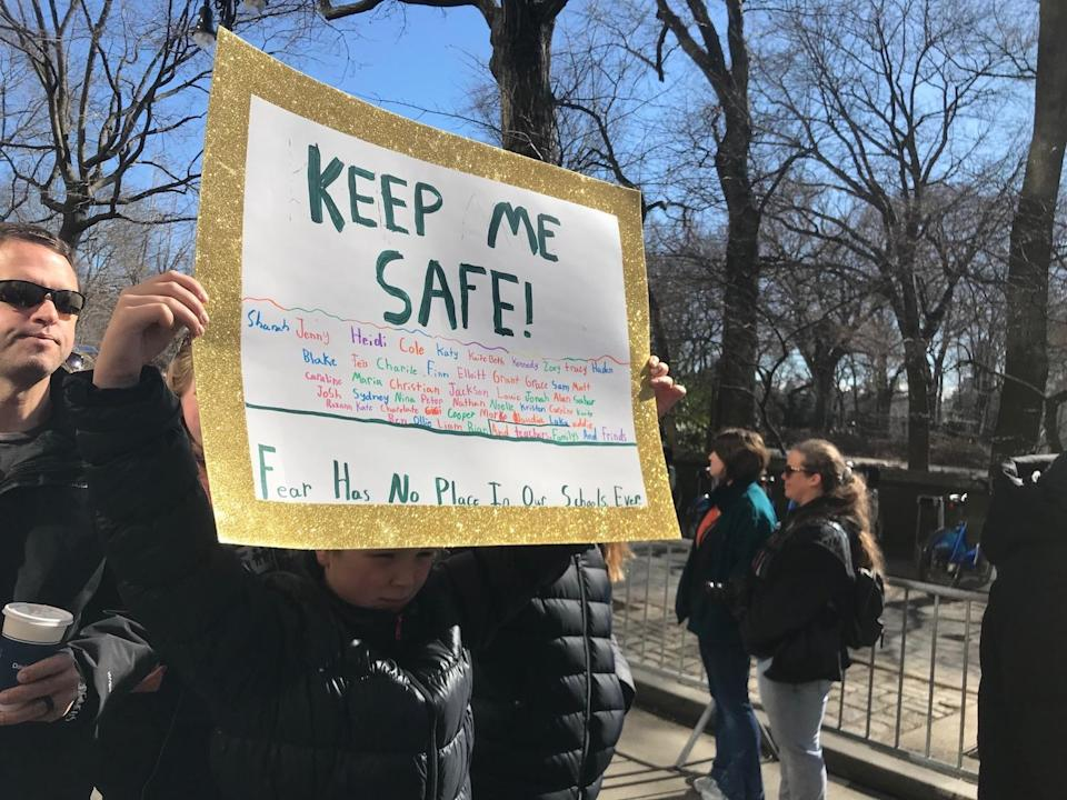 <p>Another sign in NYC. (Photo: Laura Kenney for Yahoo Lifestyle) </p>