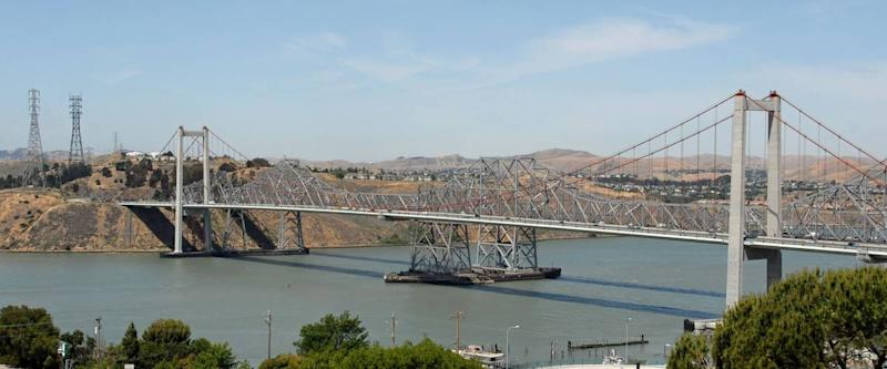 Carquinez Bridge from Crockett, California