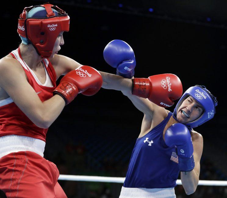 Mikaela Mayer dropped a controversial decision on Monday. (AP)