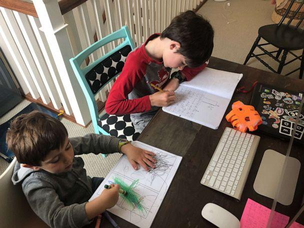 PHOTO: Shawna Lidsky's children, ages, 3 and 9, are homeschooled in Vermont as the novel coronavirus affects the globe and schools are closed. (Shawna Lidsky)
