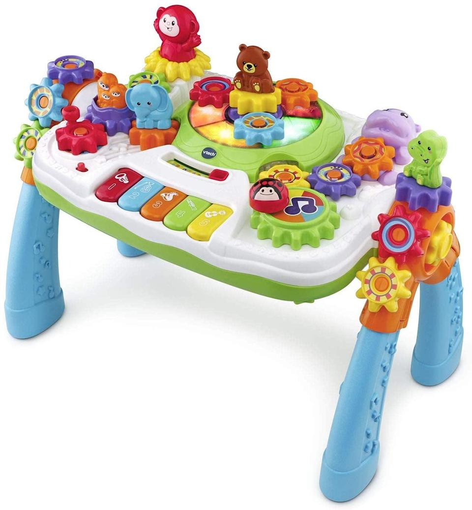 <p>There's so much for kids to do on the <span>VTech GearZooz 2-in-1 Jungle Friends Gear Park</span> ($40).</p>