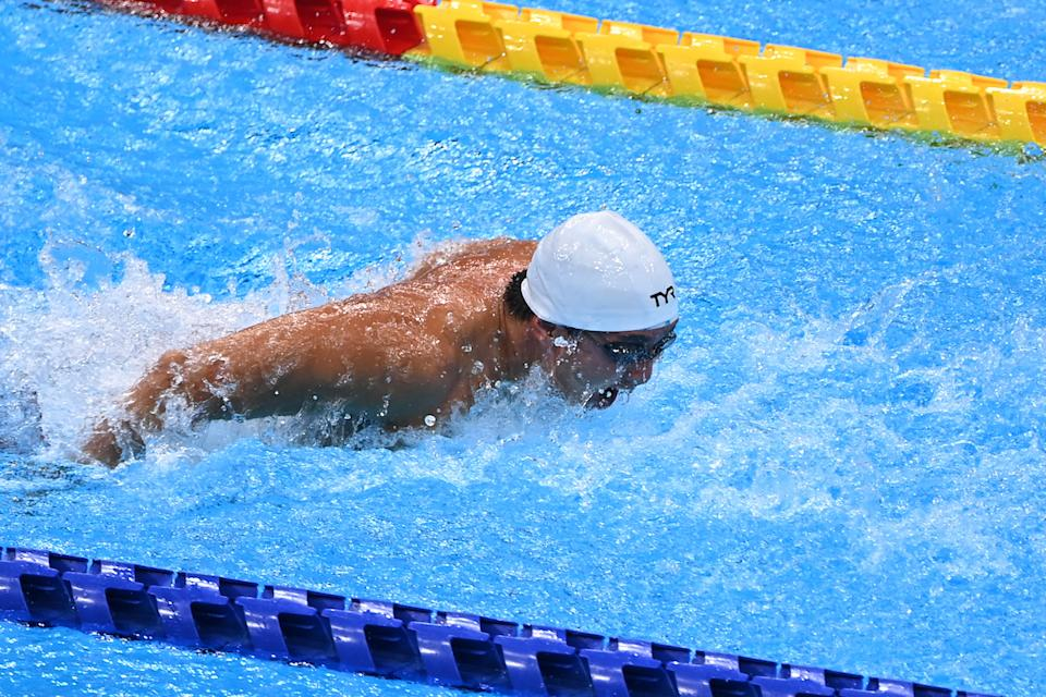 Singapore swimmer Toh Wei Soong during the men's 50m butterfly (S7) heats at the 2020 Tokyo Paralympics. (PHOTO: Sport Singapore)