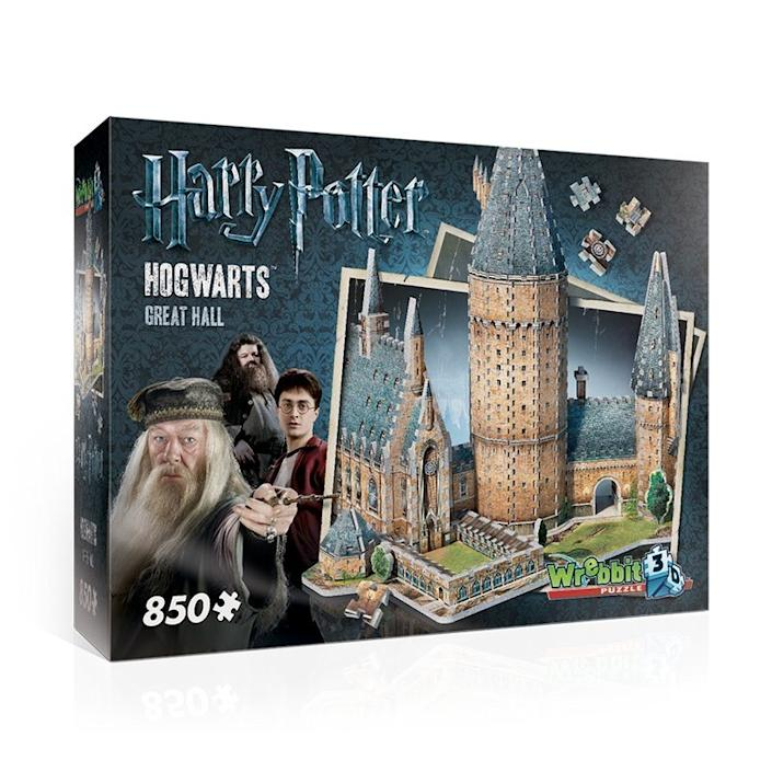 Hogwarts Great Hall 3D Puzzle. Image via Harry Potter Store.