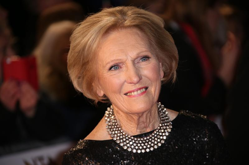 Mary Berry poses for photographers upon arrival at the National Television Awards in London, Wednesday, Jan. 20, 2016. (Photo by Joel Ryan/Invision/AP)
