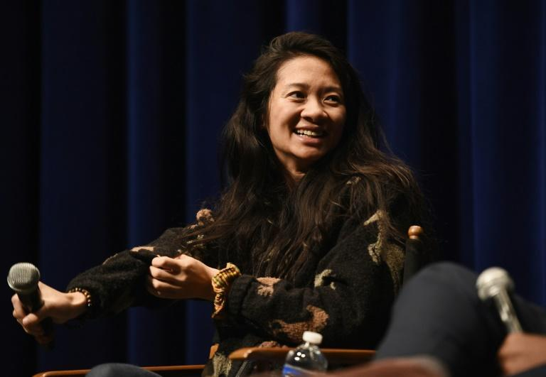 """Nomadland"" director Chloe Zhao became the first Asian female nominated in the Globes category of best director"