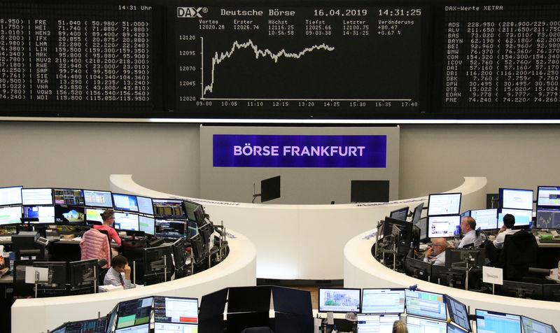 The German share price index DAX graph is pictured at the stock exchange in Frankfurt, Germany, April 16, 2019. REUTERS/Staff