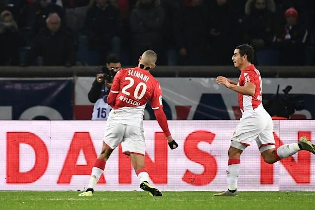 Islam Slimani earned a precious point for Monaco at PSG (AFP Photo/Anne-Christine POUJOULAT)