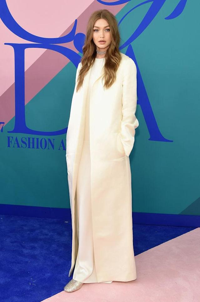 <p>Why so covered up, Miss Hadid? (Photo: Getty Images) </p>