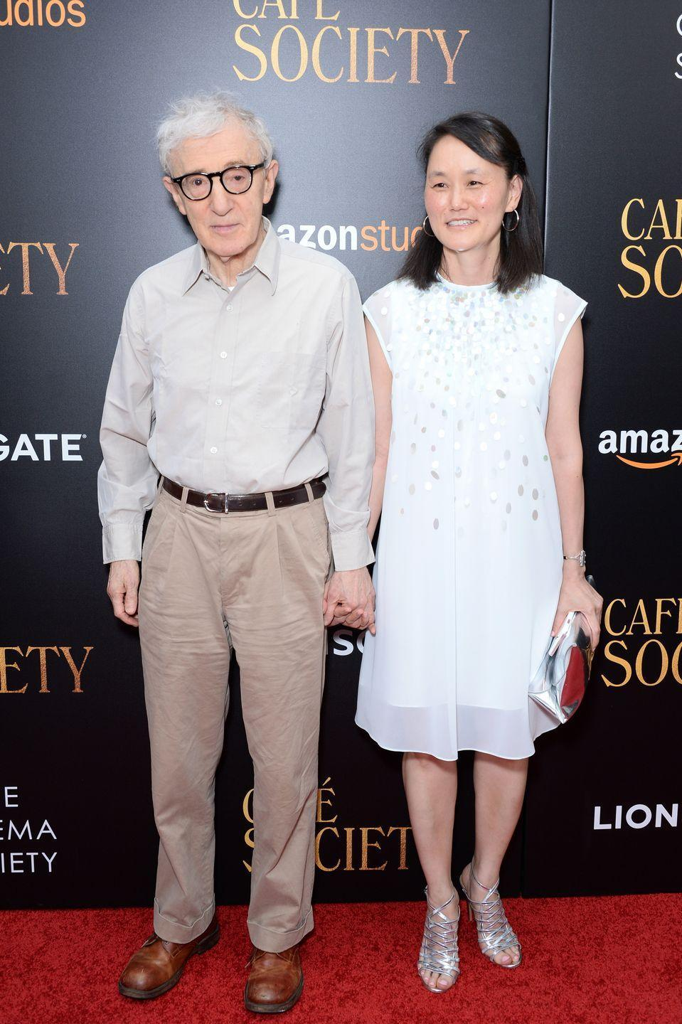 "<p>Allen began an affair with his longtime girlfriend Mia Farrow's <a href=""https://www.harpersbazaar.com.au/celebrity/scandalous-celebrity-affairs-15060"" rel=""nofollow noopener"" target=""_blank"" data-ylk=""slk:adoptive daughter"" class=""link rapid-noclick-resp"">adoptive daughter</a> in 1992. The scandal was revealed when Farrow found nude photos of Previn that were taken by Allen. Though he was highly criticized, the director still decided to marry Previn in 1997.</p>"