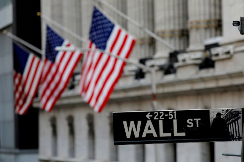 FILE PHOTO: New York Stock Exchange (NYSE) building after the start of Thursday's trading session