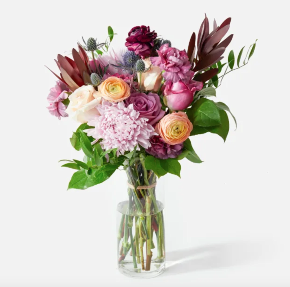 """<h2><a href=""""https://urbanstems.com/"""" rel=""""nofollow noopener"""" target=""""_blank"""" data-ylk=""""slk:Urban Stems"""" class=""""link rapid-noclick-resp"""">Urban Stems</a></h2><br><strong>Best For: Curated Arrangements</strong><br>Urban Stems has a curated selection of bouquets, potted succulents, and more, all of which are waiting for you in the splendidly curated <a href=""""https://urbanstems.com/valentines-day-flowers#"""" rel=""""nofollow noopener"""" target=""""_blank"""" data-ylk=""""slk:Valentine's Shop"""" class=""""link rapid-noclick-resp"""">Valentine's Shop</a>. The online gifting company sources its flowers straight from the farm for ultimate freshness and they offer coast-to-coast next-day delivery options.<br><br><strong>Deal: </strong>Score <strong>free delivery</strong> with email signup. <br><br><strong>Urban Stems</strong> The Amethyst, $, available at <a href=""""https://go.skimresources.com/?id=30283X879131&url=https%3A%2F%2Furbanstems.com%2Fproducts%2Fflowers%2Fthe-amethyst%2FFLRL-B-00055.html"""" rel=""""nofollow noopener"""" target=""""_blank"""" data-ylk=""""slk:Urban Stems"""" class=""""link rapid-noclick-resp"""">Urban Stems</a>"""