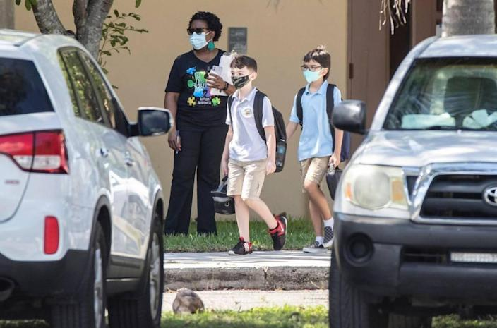 A student at William Lehman Elementary School has tested positive for COVID-19, school district officials said on Thursday, Oct. 8, 2020. The Kendall school reopened its classrooms to students earlier that week.