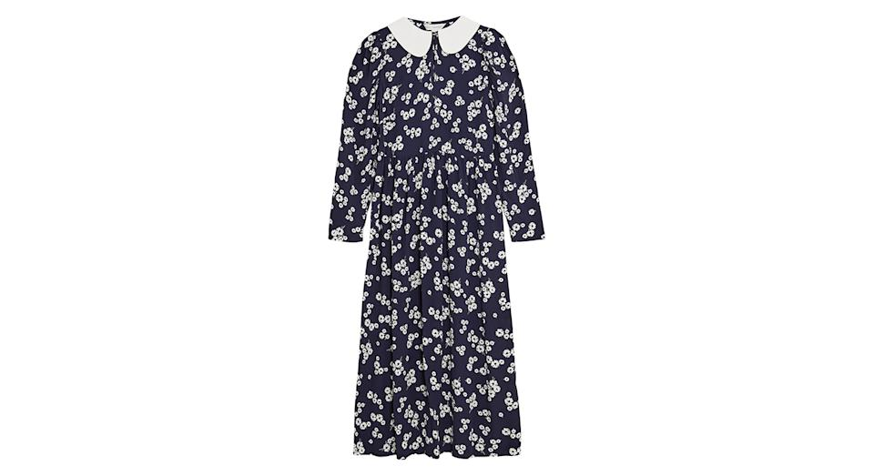Floral Peter Pan Collar Midaxi Tea Dress