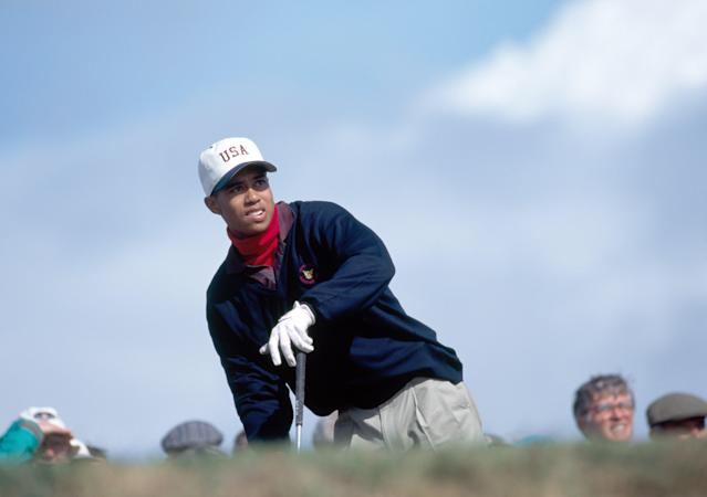 In his lone Walker Cup appearance, Woods was 2-2 at Royal Porthcawl as the American side lost for just the fourth time in the history of the event.