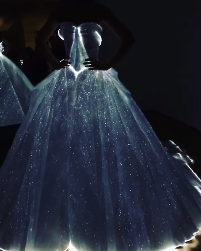 <p>Cinderella's dress has nothing on this Zac Posen number. <em>[Instagram/Zac Posen]</em> </p>
