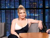 """<p>When Hilary Duff gave birth to her son Luca back in 2012, she told <a href=""""http://www.usmagazine.com/celebrity-news/news/hilary-duff-im-working-hard-to-lose-the-baby-weight-201226"""" rel=""""nofollow noopener"""" target=""""_blank"""" data-ylk=""""slk:Us Weekly"""" class=""""link rapid-noclick-resp"""">Us Weekly</a> about how she staved off any negative thoughts she had about her body following pregnancy. """"I think if you ask any pregnant mom, they're like 'I want my body back,' but it takes time,"""" she said. """"It takes nine months for your body to get that way and it's putting on that weight on purpose. The second I start to get down, like 'what happened to my body,' I look at my beautiful baby and I've never been more appreciative for this body that I have."""" </p><p>And while Hilary admitted that at that stage she wasn't quite """"where I want to be eventually"""" body-wise, she was being sensible about what she could manage. """"I'm breast-feeding, so you have to be careful and not do anything too drastic,"""" she said.</p>"""