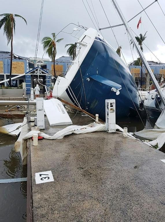 The British Virgin Islands was also badly hit by Hurricane Irma