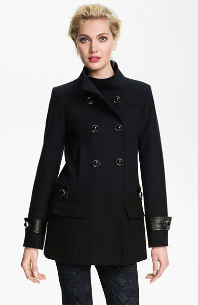 """<div class=""""caption-credit""""> Photo by: Nordstrom</div><b>Vince Camuto Colorblock Peacoat, $168, nordstrom.com</b> <br> This coat has clean lines and chic, compliment-worthy details."""