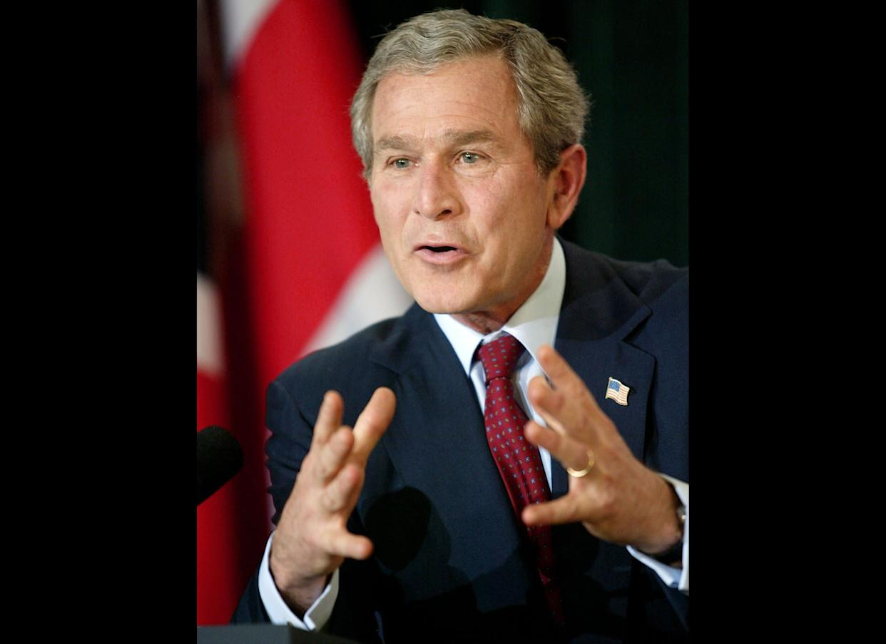 President George W. Bush persuades Congress to add prescription drug coverage to Medicare in a major expansion of the program for older people.