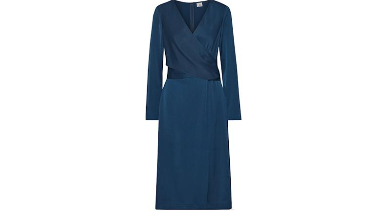 Iris and Ink Siri wrap-effect satin-crepe dress