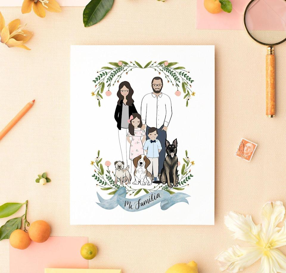 """<p><strong>PrintableWisdom</strong></p><p>etsy.com</p><p><strong>$58.63</strong></p><p><a href=""""https://go.redirectingat.com?id=74968X1596630&url=https%3A%2F%2Fwww.etsy.com%2Flisting%2F529421293%2Fcustom-portrait-of-couple-custom-couple&sref=https%3A%2F%2Fwww.bestproducts.com%2Flifestyle%2Fg34132776%2Fbest-etsy-gifts%2F"""" rel=""""nofollow noopener"""" target=""""_blank"""" data-ylk=""""slk:Shop Now"""" class=""""link rapid-noclick-resp"""">Shop Now</a></p><p>They won't believe how closely this custom print resembles them and their family — yes, even pets too! </p><p>Simply send the seller a photo of the lucky loved ones you want to include, and they'll individually draw each portrait, plus a banner below it featuring beautiful hand lettered calligraphy. This Etsy gift is a frame-worthy masterpiece they won't soon forget.</p>"""