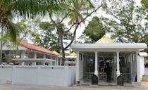 The Sri Subramaniam temple is pictured in the southern town of Matara on March 7, 2014