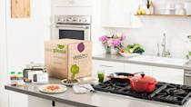 """<p><span>Veestro is one of the </span>best prepared meal delivery services <span>providing organic and vegan ingredients straight to your door. The best part is, all you need to do is heat your meal. </span></p> <p><b>How Much Does Veestro Delivery Cost? </b>Starting at<span> $9.90 per meal, with 30-meals prepaid </span></p> <p><b>Is Veestro Delivery Worth It? </b><span>If you don't cook and would like nutritious meals delivered, Veestro is worth it.</span></p> <p><b>Who Is Veestro Best For?</b></p> <ul> <li><span>Best for organic options</span></li> <li><span>Best for heat-and-serve options</span></li> <li><span>Skip if you're on a tight budget because you have to purchase at least 30 meals to get a price break. </span></li> </ul> <p><em><strong>Learn About: <a href=""""https://www.gobankingrates.com/saving-money/food/cheap-healthy-frozen-foods/?utm_campaign=1013201&utm_source=yahoo.com&utm_content=22"""" rel=""""nofollow noopener"""" target=""""_blank"""" data-ylk=""""slk:25 Cheap Frozen Foods That Are Actually Good for You"""" class=""""link rapid-noclick-resp"""">25 Cheap Frozen Foods That Are Actually Good for You</a></strong></em></p>"""