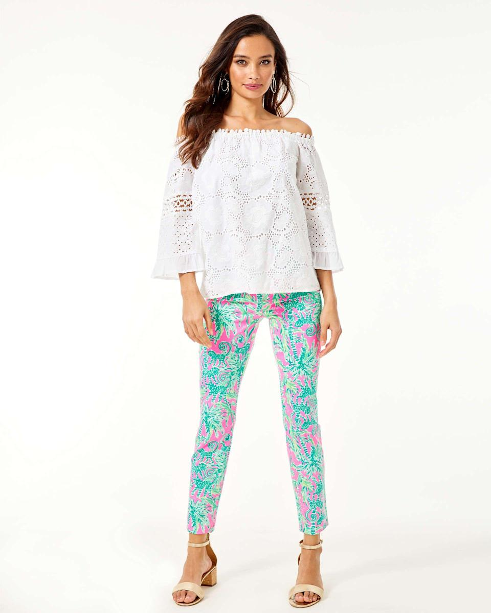 """<p><strong>lilly pulitzer</strong></p><p>lillypulitzer.com</p><p><a href=""""https://go.redirectingat.com?id=74968X1596630&url=https%3A%2F%2Fwww.lillypulitzer.com%2F29-kelly-high-rise-skinny-ankle-pant%2F004787.html&sref=https%3A%2F%2Fwww.townandcountrymag.com%2Fstyle%2Ffashion-trends%2Fg34011833%2Flilly-pulitzer-sale-september-2020%2F"""" rel=""""nofollow noopener"""" target=""""_blank"""" data-ylk=""""slk:Shop Now"""" class=""""link rapid-noclick-resp"""">Shop Now</a></p><p>$49</p><p><em>Original Price: $148</em></p>"""