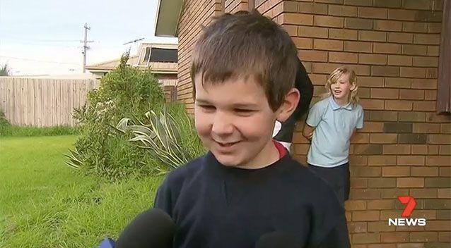 Geelong boy Raith Barlow put 40 cents in his pocket and snuck out his family's home in search of the perfect Mother's Day present, sparking a police search. Picture: 7 News