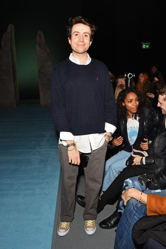 <p>Close pal Nick Grimshaw sat FROW in support of Ashley Williams' AW18 show which saw the likes of Adwoa Aboah hit the runway. <em>[Photo: Getty]</em> </p>