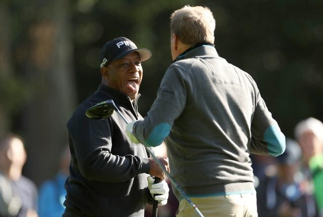 Ian Wright and Harry Redknapp play golf together