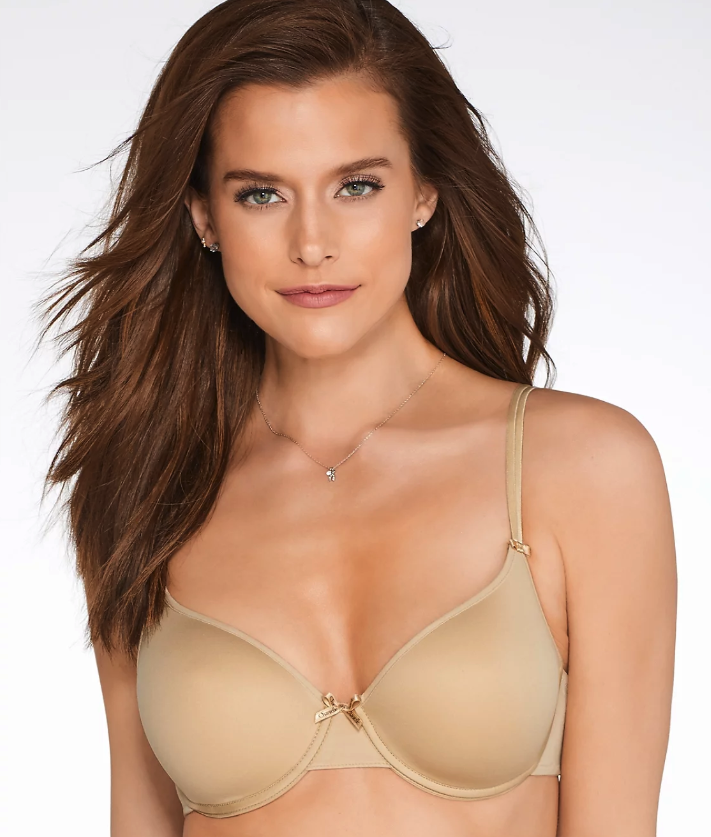 "A T-shirt bra with removable cups gives you the best of both worlds: minimal construction, plus the option of padding. The deep V-cut also makes it easy to wear under a multitude of tops—it's what I currently live in. $72, Bare Necessities. <a href=""https://www.barenecessities.com/product.aspx?pfid=Chantelle1241&cm_mmc=GLPA_NonBrand-_-Bra-_-Chantelle14-_-Chantelle1241&BillboardPopupEnabled=false&BorderfreeEnabled=False&color=Beige&amsk=w9a4hfr3k4&cmp=p1&gclid=EAIaIQobChMI8tqk1e2g4QIVTVcNCh0TBAzwEAQYASABEgKfo_D_BwE"">Get it now!</a>"