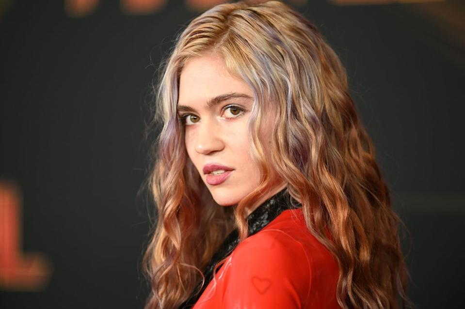 Canadian singer Grimes has revealed the meaning behind her son's unusual name, pictured her at the Captain Marvel premiere in March 2019. (Getty Images)