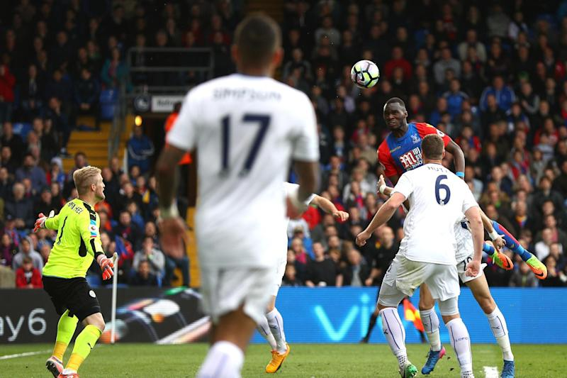 Towering presence: Benteke snatched a point for Palace at Selhurst Park: Getty Images