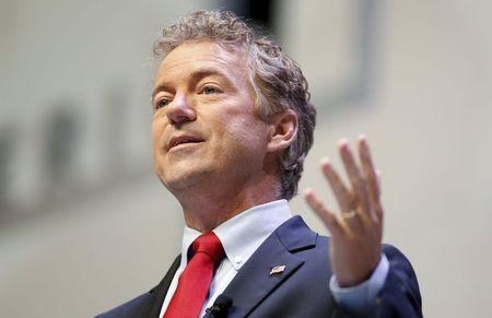 U.S. Republican presidential candidate and Senator Rand Paul speaks during the Heritage Action for America presidential candidate forum in Greenville, South Carolina on September 18, 2015. REUTERS/Chris Keane