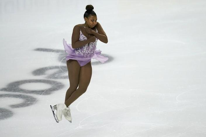 Starr Andrews performs during the women's free skate program at the U.S. championships Jan. 15, 2021, in Las Vegas.