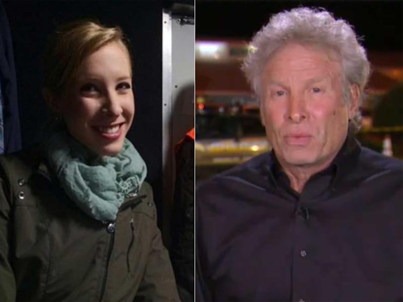 Alison Parker and her father Andy: AP