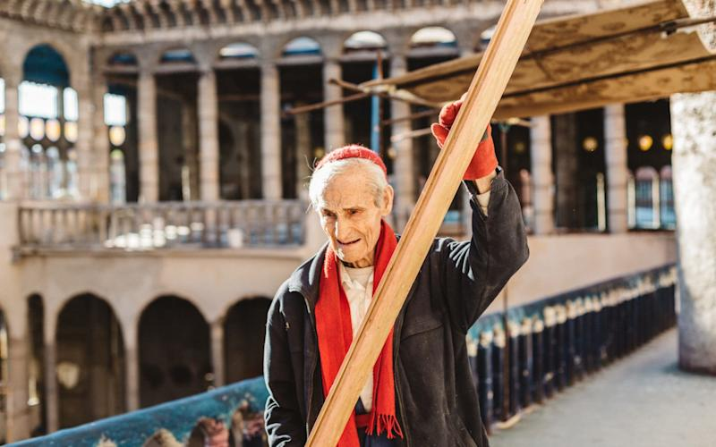 Justo Gallego, 91, at work on the cathedral he is building - NYTNS / Redux / eyevine