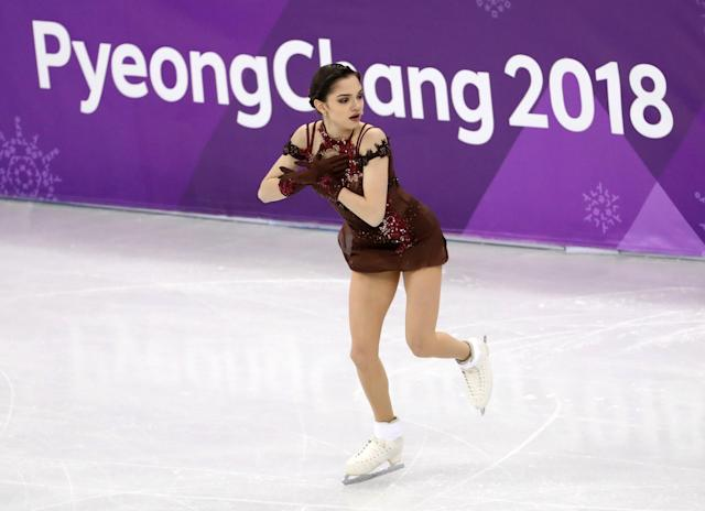 Figure Skating - Pyeongchang 2018 Winter Olympics - Women Single Skating free skating competition final - Gangneung Ice Arena - Gangneung, South Korea - Evgenia Medvedeva, an Olympic Athlete from Russia, competes. REUTERS/Lucy Nicholson