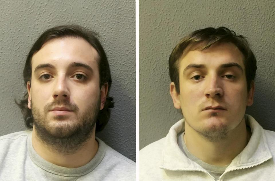Alfie Atherton (left) and Reed Roberts (right) have both been jailed for a total of 18 years. (SWNS)