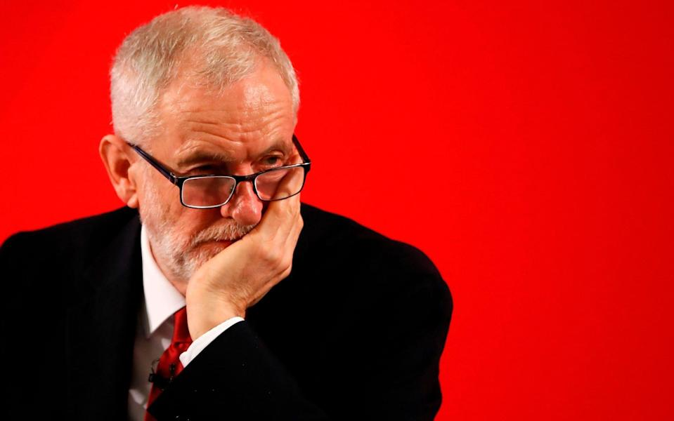 Former leader Jeremy Corbyn has been suspended from the Labour Party - Tolga Akmen/AFP