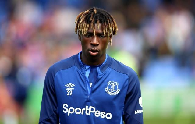 Moise Kean came on to make his Everton debut (Nigel French/PA)