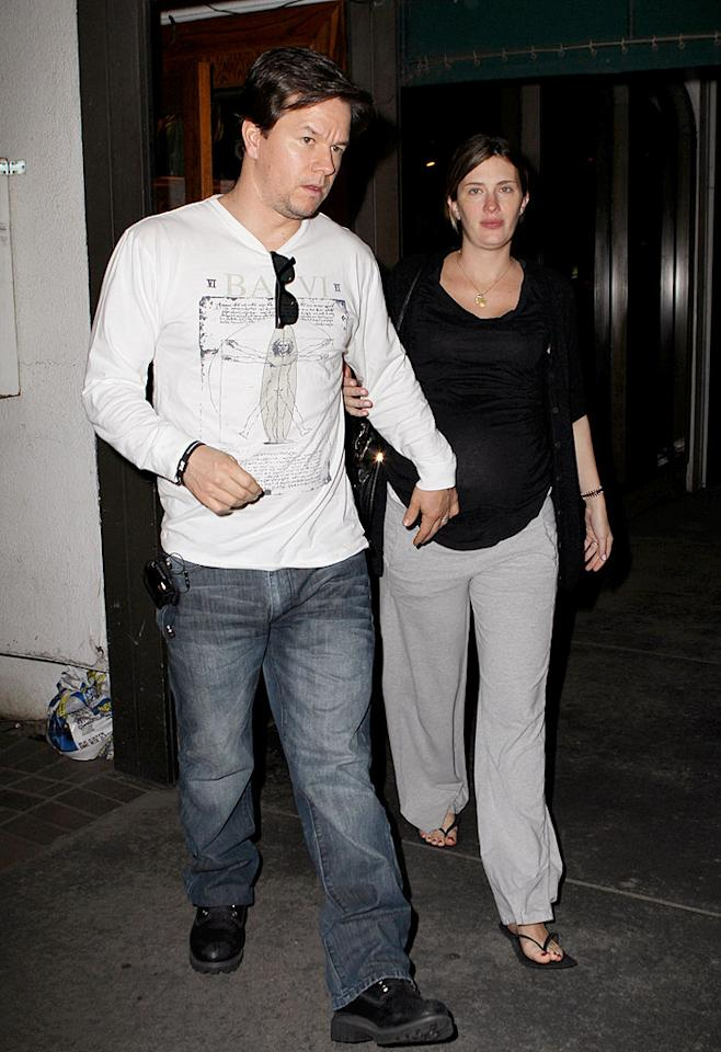 """Mark Wahlberg and wife Rhea Durham welcomed their fourth child, Grace Margaret, on Monday. The couple had a last dinner out at LA restaurant Madeo on Sunday night. Wahlberg, the youngest of nine, says he wouldn't mind having more kids soon. Marky Mark, give the lady a break! Ice/<a href=""""http://www.x17online.com"""" target=""""new"""">X17 Online</a> - January 10, 2010"""