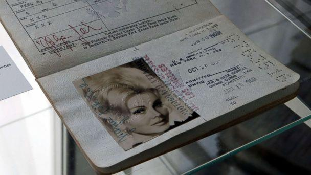 PHOTO: A circa 1966 passport of Zsa Zsa Gabor with the birthday changed to 1928 is displayed at the 'Hello Dal-ling: The Estate of Zsa Zsa Gabor' auction by Heritage Auctions at the late actress residence in Bel Air, Calif., April 12, 2018. (Mike Nelson/EPA via Shutterstock)
