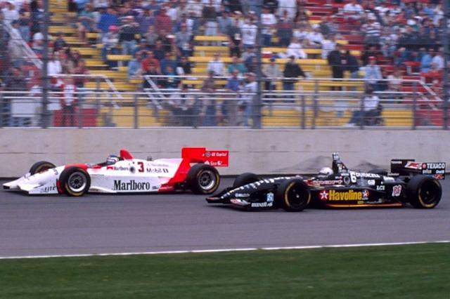 """Penske (hier Tracy) ist noch immer Topteam, Newman/Haas (hier Andretti) nicht mehr da <span class=""""copyright"""">Motorsport Images</span>"""
