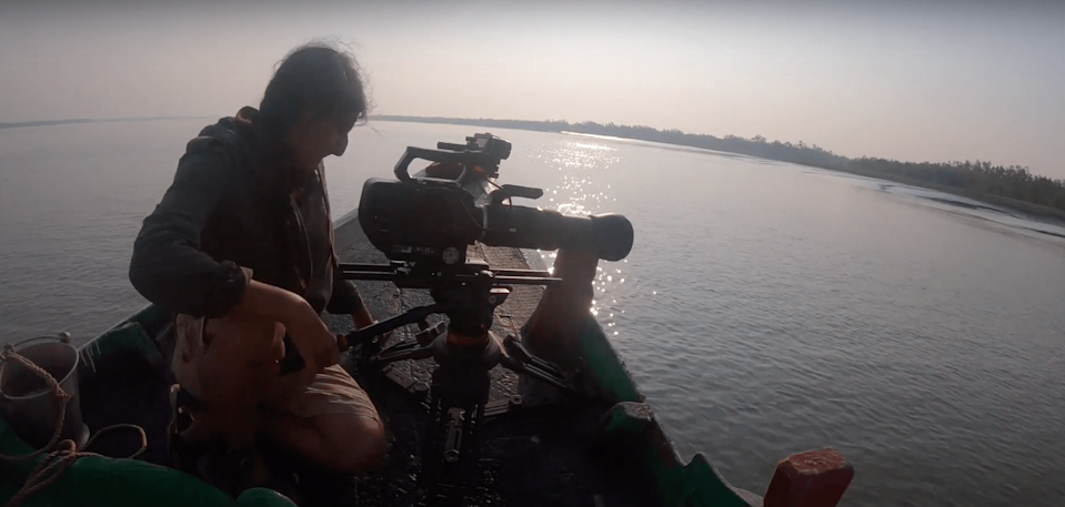 Kapur lived on a boat for over a month, traveling with the locals and documenting the life in Sunderbans.
