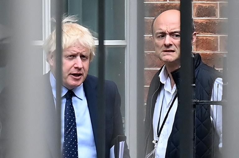 Cummings, right, has launched a series of attacks against his former boss's coronavirus policies and financial dealings