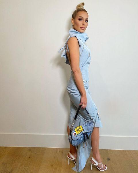 """<p>'I get most of my vintage pieces from <a href=""""https://go.redirectingat.com?id=127X1599956&url=https%3A%2F%2Fwww.whatgoesaroundnyc.com%2F&sref=https%3A%2F%2Fwww.elle.com%2Fuk%2Ffashion%2Fg37498282%2Fvintage-shopping-guide%2F"""" rel=""""nofollow noopener"""" target=""""_blank"""" data-ylk=""""slk:What Goes Around Comes Around"""" class=""""link rapid-noclick-resp"""">What Goes Around Comes Around</a> in New York and LA, and <a href=""""https://www.elcycervintage.com/"""" rel=""""nofollow noopener"""" target=""""_blank"""" data-ylk=""""slk:El Cycèr"""" class=""""link rapid-noclick-resp"""">El Cycèr</a> online. I also find pieces on <a href=""""https://www.1stdibs.co.uk/"""" rel=""""nofollow noopener"""" target=""""_blank"""" data-ylk=""""slk:1stDibs"""" class=""""link rapid-noclick-resp"""">1stDibs</a> and <a href=""""https://treasuresofnewyorkcity.com/"""" rel=""""nofollow noopener"""" target=""""_blank"""" data-ylk=""""slk:Treasures of NYC"""" class=""""link rapid-noclick-resp"""">Treasures of NYC</a>. </p><p>'One of my favourite things about buying vintage pieces is imagining the story that the piece has; it feels like I'm buying a slice of history. </p><p>'I love to mix vintage items with current ones – for example, a Westwood corset with high-waisted jeans and hoop earrings. Now that I have a young daughter, I save my favourite pieces for her, knowing that one day she, too, can enjoy owning pieces that have lived through my life's experiences.'</p><p><a href=""""https://www.instagram.com/p/CTA2mGEh2KB/"""" rel=""""nofollow noopener"""" target=""""_blank"""" data-ylk=""""slk:See the original post on Instagram"""" class=""""link rapid-noclick-resp"""">See the original post on Instagram</a></p>"""